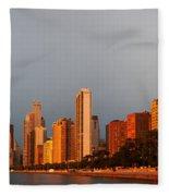 Sunrise Over Chicago Fleece Blanket