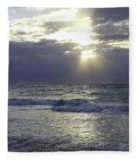 Sunrise Over Gulf Of Mexico Fleece Blanket