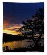 Sunrise Over Hauser Fleece Blanket