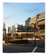 Sunrise Over Haymarket Station In Boston Fleece Blanket