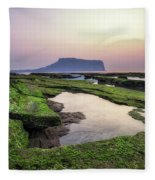 Sunrise Over Jeju Island Fleece Blanket