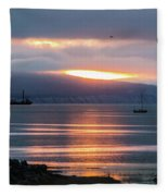 Sunrise Over Kachemak Bay Fleece Blanket