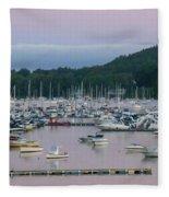Sunrise Over Mallets Bay Panorama - Two Fleece Blanket
