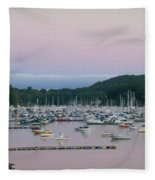 Sunrise Over Mallets Bay Variations - Two Fleece Blanket