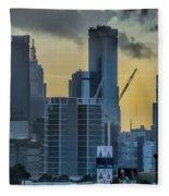 Sunrise Over Melbourne Fleece Blanket