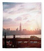 Sunrise Over Nyc Fleece Blanket