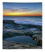 Sunrise Over Pemaquid Point Fleece Blanket