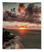 Sunrise Over The Beach Fleece Blanket