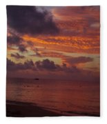 Sunrise Over The Caribean Fleece Blanket