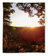 Sunrise Over The Mountain  Fleece Blanket