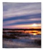 Sunrise Over The Salt Marsh Fleece Blanket