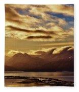 Sunrise Over The Spit Fleece Blanket