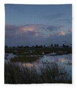 Sunrise Over The Wetlands Fleece Blanket
