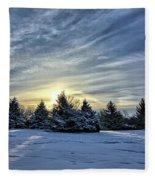 Sunrise Pines Fleece Blanket