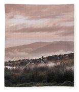 Sunrise Pink Over Tlacolula Valley Fleece Blanket