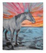 Sunrise Pony Fleece Blanket