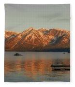 Sunrise Reflections On Colter Bay Fleece Blanket