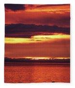 Sunrise Sekiu Washington Fleece Blanket