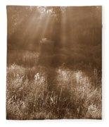 Sunrise Sepia Fleece Blanket