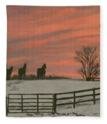 Sunrise Silhouettes Fleece Blanket