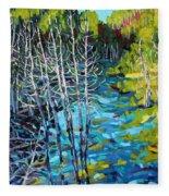 Sunrise Swamp Fleece Blanket