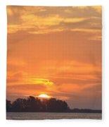 Sunrise Through Clouds 2451 Fleece Blanket