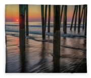 Sunrise Under The Pier Fleece Blanket