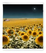 Suns And A Moon Fleece Blanket