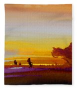 Sunset 07 Fleece Blanket