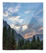 Sunset 1 Yosemite  Fleece Blanket