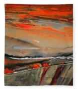 Sunset 10 Fleece Blanket