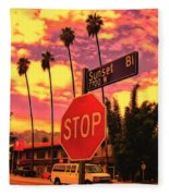 Sunset 7700w Fleece Blanket