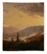 Sunset After A Storm In The Catskill Mountains Fleece Blanket