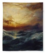 Sunset After A Storm Fleece Blanket