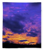 Sunset After Storm Fleece Blanket