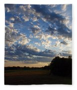 Sunset After The Storm Fleece Blanket