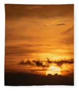 Sunset Ahuachapan 27 Fleece Blanket