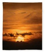 Sunset Ahuachapan 28 Fleece Blanket