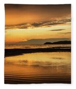 Sunset And Reflection Fleece Blanket