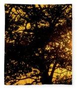 Sunset And Trees - San Salvador I Fleece Blanket