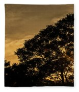 Sunset And Trees - San Salvador Fleece Blanket