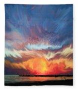 Sunset Art Landscape Fleece Blanket