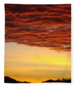 Sunset Art Prints Canvas Orange Clouds Twilight Sky Baslee Troutman Fleece Blanket