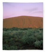 Sunset At Ayre's Rock Fleece Blanket