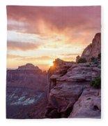 Sunset At Canyonlands Fleece Blanket