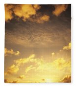 Sunset At Chinamans Hat Fleece Blanket