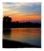 Sunset At Colonial Beach Cove Fleece Blanket