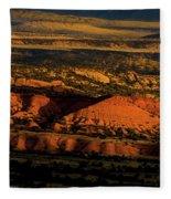 Sunset At Donkey Flats Fleece Blanket