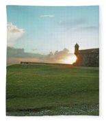 Sunset At El Morro Fleece Blanket