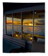 Sunset At Fletchers Camp Fleece Blanket